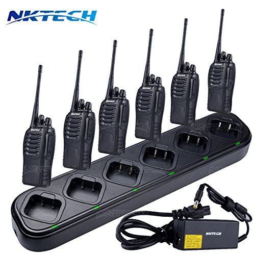 NKTECH 6-Way Six-Way Universal Rapid Multi Charger For Pofung BAOFENG BF-888S BF-777S BF-666S Two-Way Radio Walkie Talkie Pack of 10 by NKTECH (Image #1)