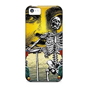 Shock Absorbent Cell-phone Hard Covers For Iphone 5c (iYD15339ZoMX) Provide Private Custom Trendy Grateful Dead Pattern