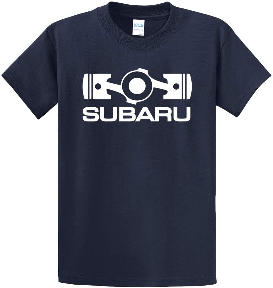 XXL Subaru Basic Tee Shirt Impreza Sti Forester Legacy Outback Ascent Impreza Crosstrek T Shirt Official Genuine WRX New OEM Racing Navy