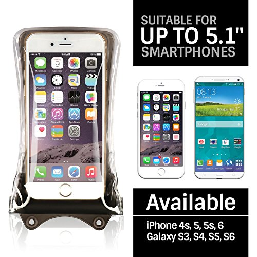DiCAPac WP-C1s Black Economy Series Waterproof Case for Smartphones up to 5.1-Inches