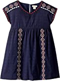 Lucky Brand Kids Baby Girl's Sophia Dress (Toddler) Black Iris 4T