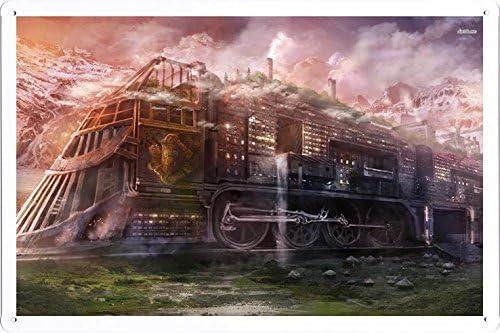 Amazon.com: Abstracto signo – # 17963 Steampunk tren metal ...