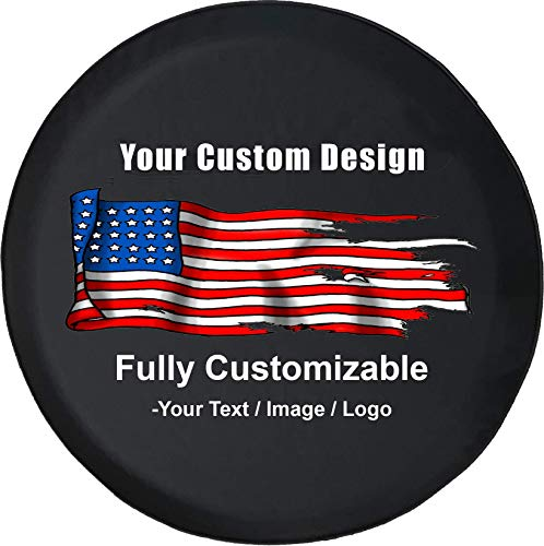 American Unlimited Custom Spare Tire Cover You Design Personalized Full Color Tire Cover (Fits: Jeep Wranger Accessories SUV Camper RV Accessories) Size 35 Inch