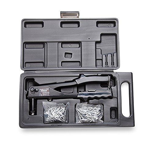 K Rivet Tool Kit, Uses 1/8-Inch and 3/16-Inch Rivets, Includes 50 Rivets (Arrow Rivet Tool)