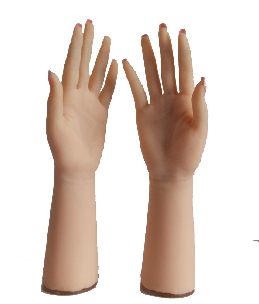 Lifesize Soft Silicone Hand Mannequin Prosthetic Hand 4 Jewelry Glove Display (With skeleton)