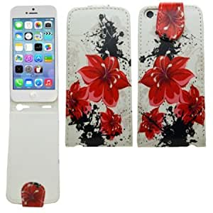 Quaroth SAMRICK - Apple iPhone 5C - Floral Flowers Specially Designed Leather Flip Case & Screen Protector/Foil/Film/...