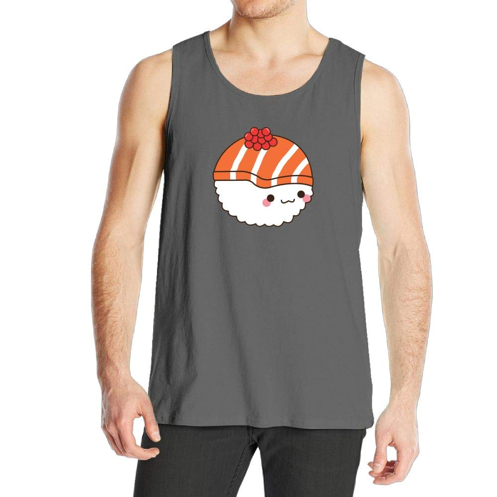 Adhone Salmon Sushi Mans Tank Top T-Shirts Sports Sleeveless Vest DeepHeather
