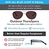 (Bundle) TheraSpecs Pilot Blue Light Glasses for