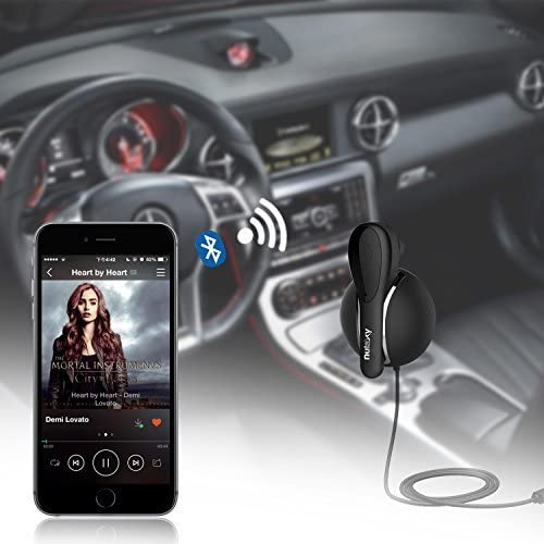 Nulaxy KM08 Bluetooth Car Kit Bluetooth Receiver W Headphone for Music Sharing and Private Hands-Free Talking
