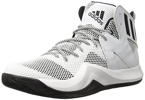 adidas Performance Men's Crazy Bounce Basketball Shoe, White/Black 1/White, 9 M (Adidas 1 Basketball)