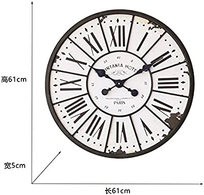 Y-Hui The Z049 Industrial Iron Roman Numeral Wall Clock Living Room Wall Clock Wall