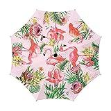 Michel Design Works Travel Umbrella 38'' Diameter, Flamingo