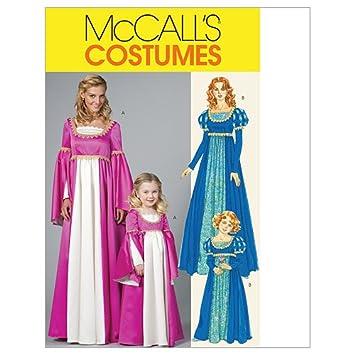 Unbekannt Mc Call´s Schnittmuster 6141 Miss Damen Renaissance Kleid ...