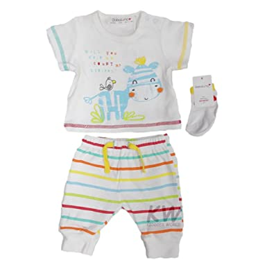 Pants /& Socks Outfit Unisex Newborn Baby Boys or Girls 3 Piece Top