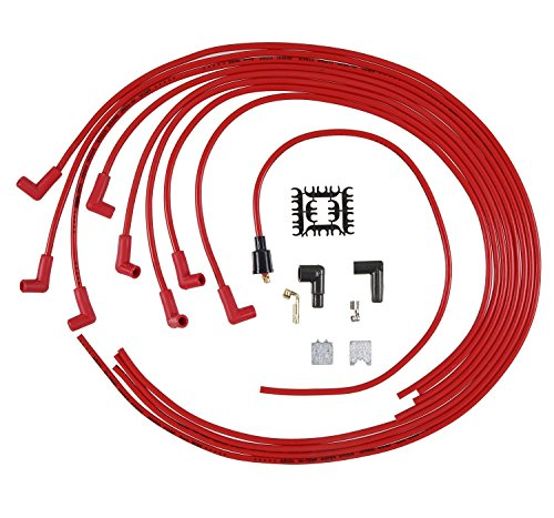 ACCEL 5041R 8mm Super Stock Spiral Universal Wire Set - Red (Stock Spiral Super)