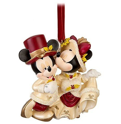 Disney Victorian Minnie and Mickey Mouse Sweetheart Christmas Ornament - Disney Theme Parks Exclusive & Limited Availability Disney Theme Park Christmas Ornaments