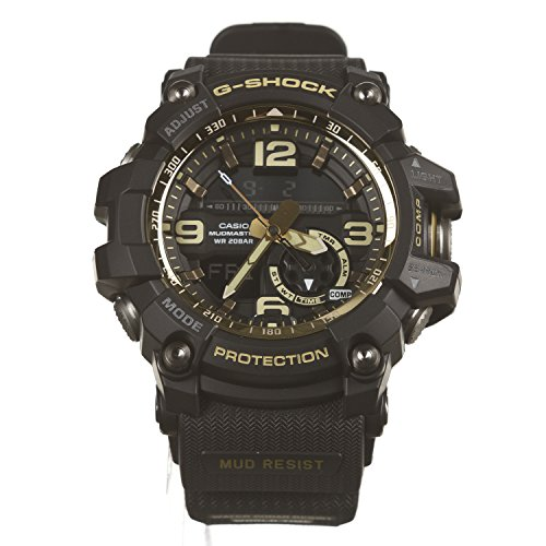 Men's Casio G-Shock Master of G Mudmaster Series Black and Gold-Tone Watch GG1000GB-1A