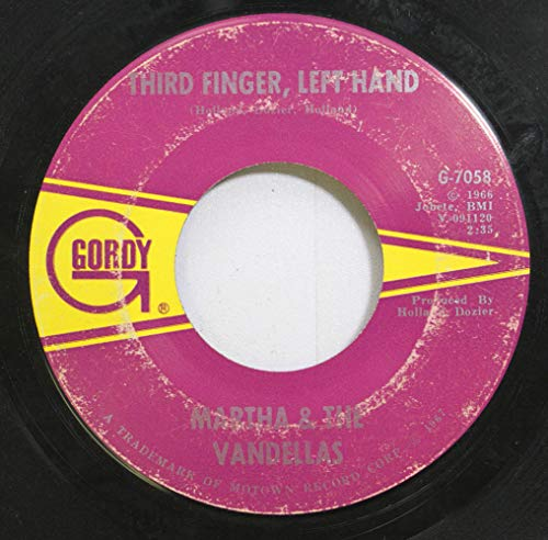 Martha & The Vandellas 45 RPM Third Finger, Left Hand / Jimmy Mack (Martha And The Vandellas Third Finger Left Hand)