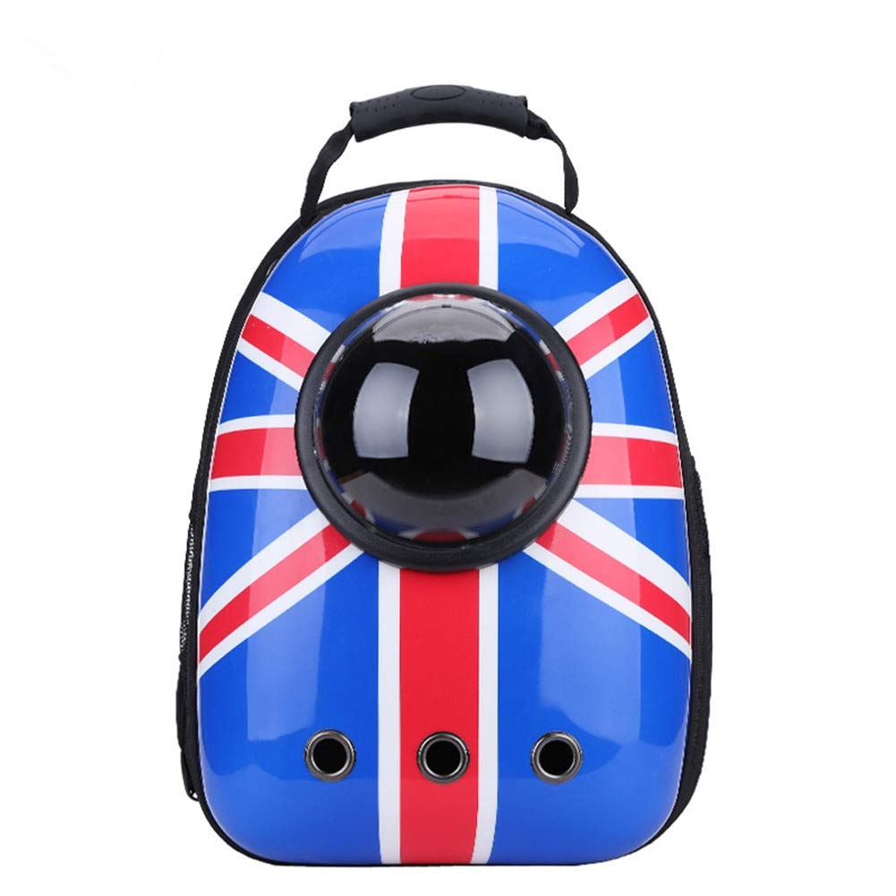 British Style One Size(11.8\ British Style One Size(11.8\ MORYSONG Portable Pet Space Capsule Bubble Backpack, Breathable Dome Pet Carrier Travel Bag, Astronaut Cat Dog Backpacks with Mesh and Hole, Waterproof Knapsack for Cats & Petite Dogs & Small Anima