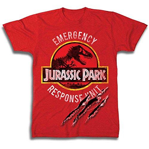 Jurassic Park Boys Dinosaur Shirt Park Dinosaur Emergency Response Unit Tee World T-Rex Shirt (M) by Jurassic