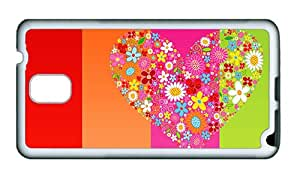 Sale Samsung N9000 Cheap price case Love heart background TPU White for Samsung Note 3/Samsung N9000