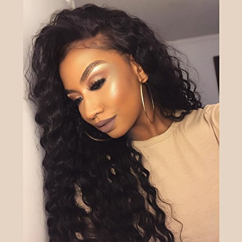 Echo Wig Loose Wave Lace Front Wigs Synthetic Hair Part Handmade Glueless Long Wig High Temperature Heat Resistant Fiber Wigs with Baby Hair -