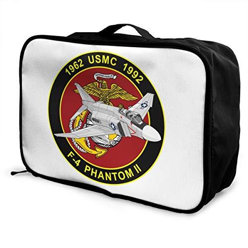 United States Marine Corps F-4 Phantom Commemorative Lightweight Large Capacity Portable Luggage Bag Fashion Travel…