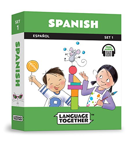 Spanish for Kids: 10 First Reader Books with Online Audio and English (Beginning to Learn Spanish) Set 1 by Language Together by Language Together