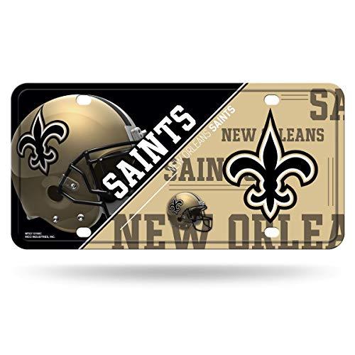 - RICO INDUSTRIES NFL New Orleans Saints Unisex New Orleans Saints License Plate Metalnew Orleans Saints License Plate Metal, Team Color, One Size