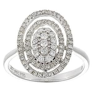 Eternal Jewels Women's White Gold Diamond Fashion Ring