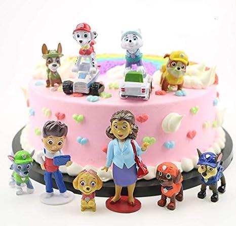 12 piezas de decoración para tarta de patrulla de perros de ...
