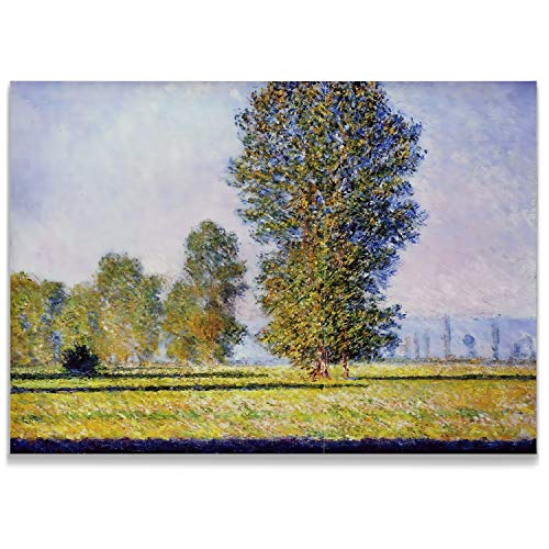 Monet Wall Art Collection Meadow at Limetz, 1888 Canvas Prints Wrapped Gallery Wall Art | Stretched and Framed Ready to Hang - Canvas Stretched 1888