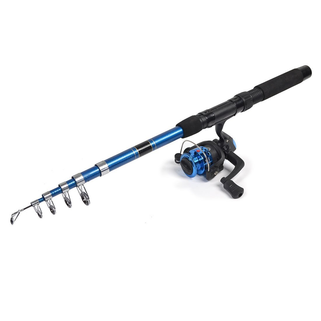 Bleu antid/érapante Grip 2M r/étractable canne /à p/êche 1 Spinning Reel Gear Ratio 5.2
