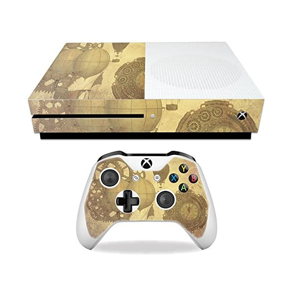 MightySkins Skin Compatible with Microsoft Xbox One S - Steam Punk Paper | Protective, Durable, and Unique Vinyl Decal wrap Cover | Easy to Apply, Remove, and Change Styles | Made in The USA 3