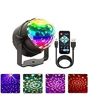 Disco Lights,NIAGUOJI Oplaadbare Disco Ballampen 4 Kleuren RGBP Feestverlichting Strobe Lichten voor Kinderen Halloween Xmas Verjaardag Disco Feesten Dans Karaoke Decorati