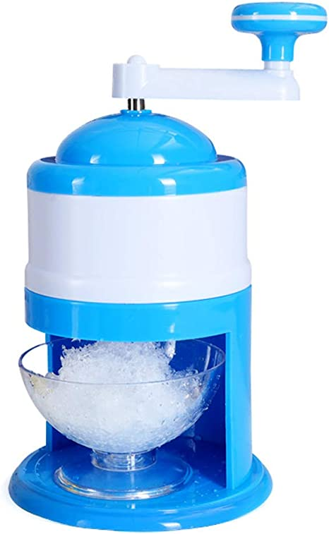 Electric Ice Crusher Stainless Steel Portable Hand Crank Manual Ice Crusher Household Ice Shaver Making Machine Kitchen Tool Ice Shaver Machine