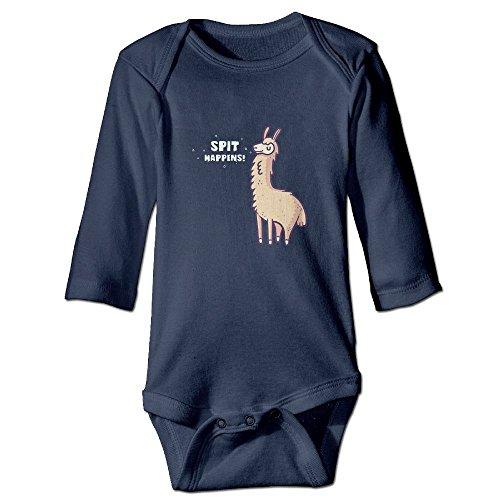 Spit Happens Alpaca Llama Baby Jumpsuit,Nation 0-24 M Baby Infant Boy Girl Cotton Romper Bodysuit - Clothing Oka