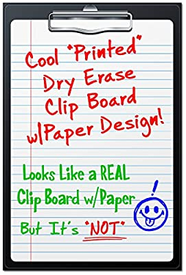 """Bigtime Magnetic Dry Erase Whiteboard """"Chalkboard"""" Style - Various Weekly, Monthly, Menu Designs for Fridge - 30 Mil Thick - 12"""" High"""