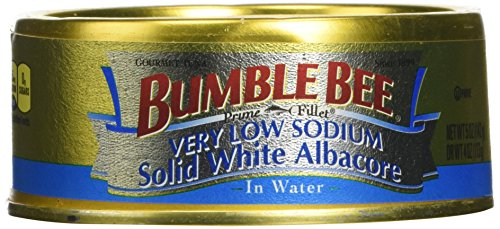 Bumble Bee Prime Fillet Very Low Sodium Solid White Albacore Tuna 5oz Can (Pack of 6) ()