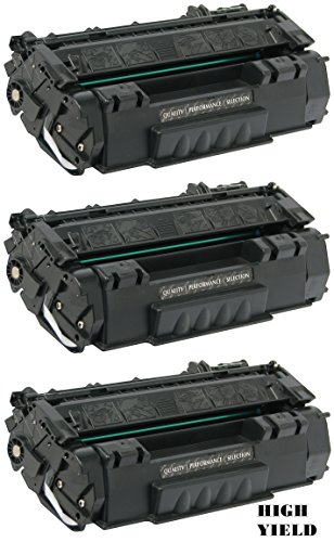 GLB Premium Quality Compatible Replacement for HP 49X / HP Q5949X High Yield Black Laser Toner Cartridge for HP Laserjet 1320, 1320N, 1320NW, 1320TN, 3390, 3392 Printers(3-Pack)