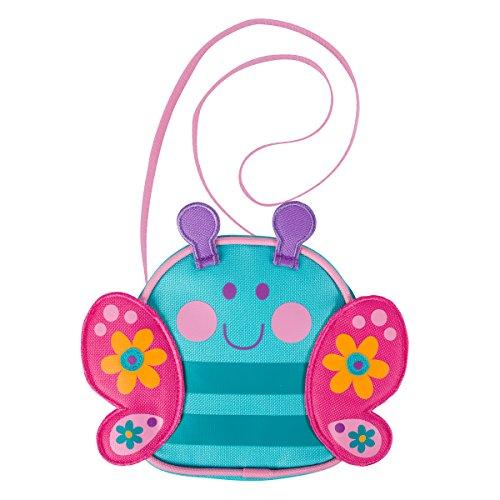 Boutique Purse (Stephen Joseph Girls' Little Crossbody Purse, Teal Butterfly, One Size)