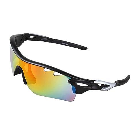 Uomini e donne polarizzanti anti-UV occhiali da sole sport outdoor occhiali da bicicletta occhiali da sci per arrampicata e equitazione , black and red