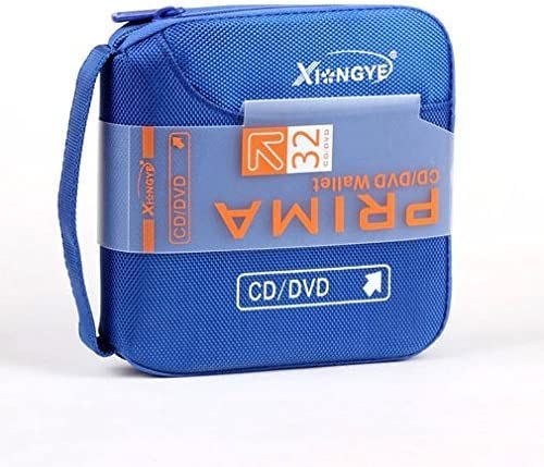 New 32 Disc CD DVD Portable Wallet Storage Organizer Holder Case Bag Album Box (Blue)
