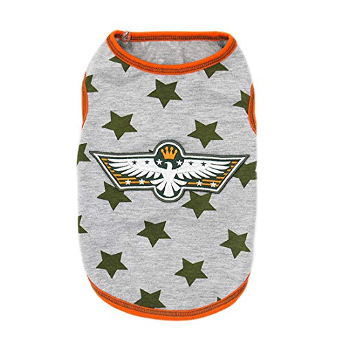 kyeese Dog Shirt Stars Soft Dog T-Shirt Tank Top Sleeveless Vest Pet Apparel Hair Shedding Cover