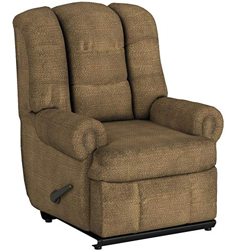 Stallion Comfort King Chaise Wallsaver Recliner Color: Brown