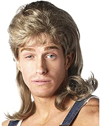Dirty Blonde Mullet Wig Costume Accessory