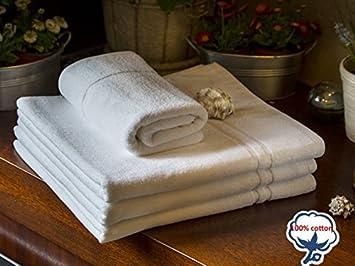 100/% Baumwolle Stripes Duchtuch 70x140,weiß  400 g//m² HOTEL Handtuch 50x100
