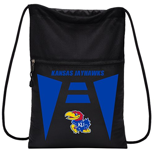 Officially Licensed NCAA Kansas Jayhawks Team Tech Backpack Backsack, One Size ()