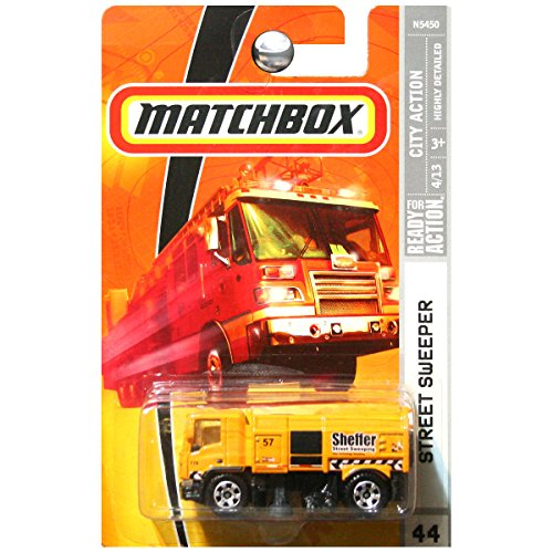 Matchbox City Action Street Sweeper Sheffer Orange Yellow #44