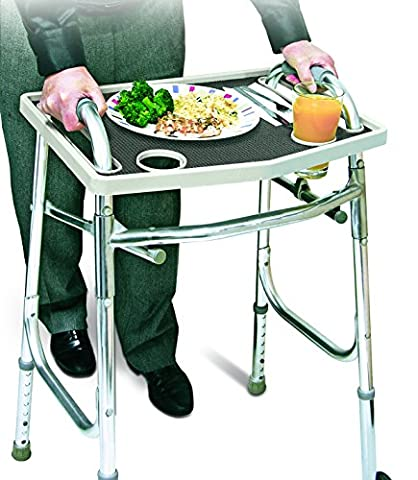 Universal Walker Tray Table With Non Slip Grip Mat - Gray … - Wheelchair Table